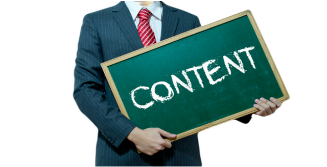 content writing in presentation