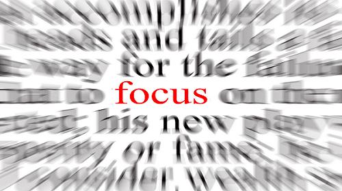 the focus in presentation